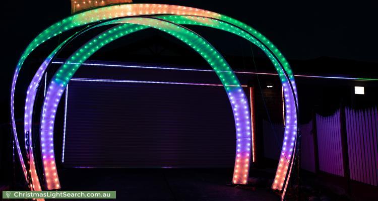 Christmas Light display at 127 Taylor Road, Mooroolbark