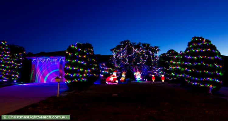 Christmas Light display at 16 Poplar Crescent, Jerrabomberra