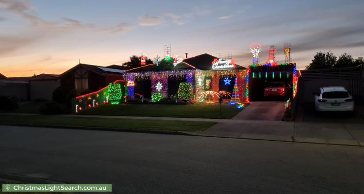 Christmas Light display at 5 Daphne Way, Cranbourne North