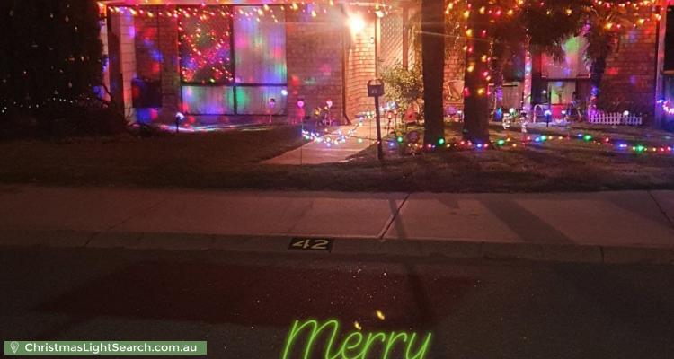 Christmas Light display at  Mataitai Loop, Cooloongup