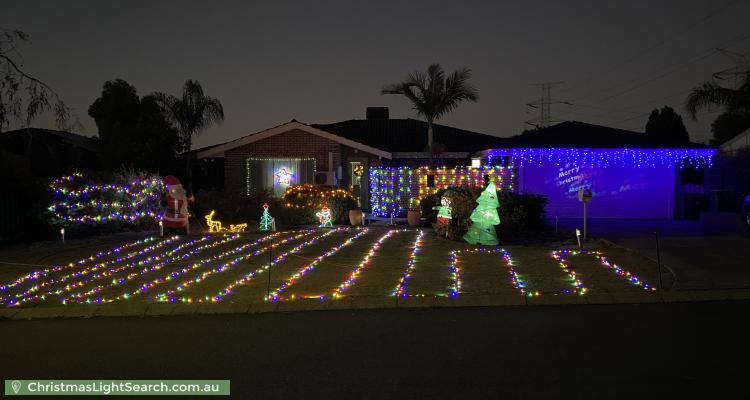 Christmas Light display at 7 Well Place, Bibra Lake