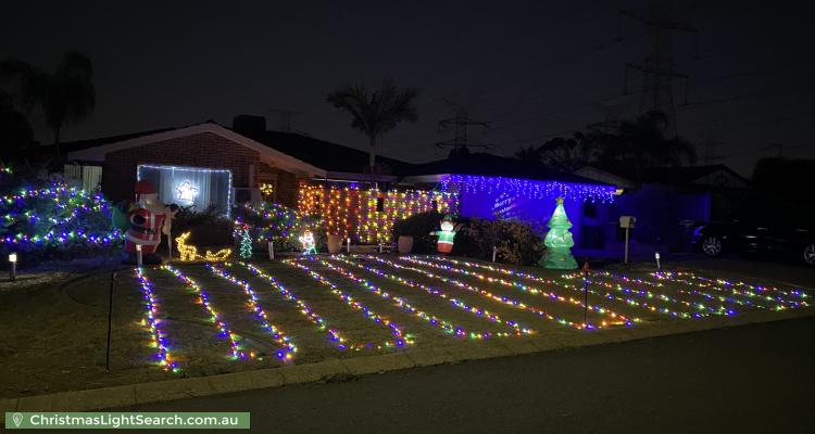 Christmas Light display at 7 Well Place, Bibra Lake