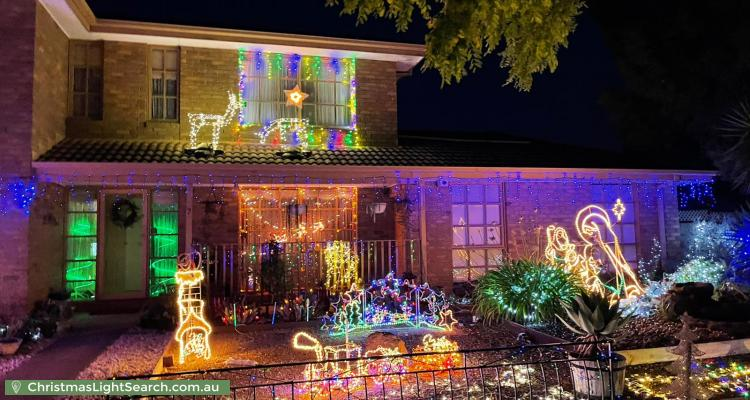 Christmas Light display at 7 Cahill Drive, Brookfield