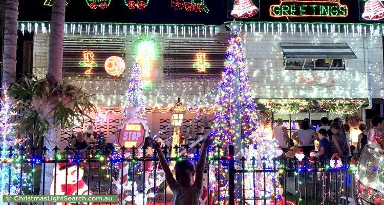 Christmas Light display at  Keirle Avenue, Whitfield
