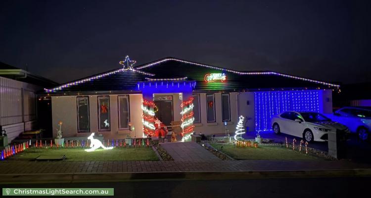 Christmas Light display at  Bondi Drive, Seaford Rise