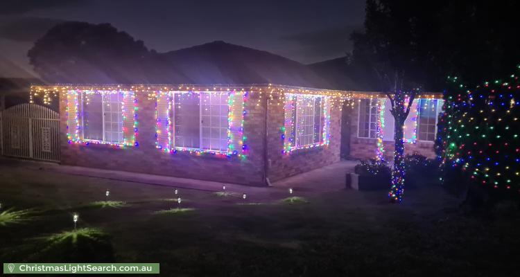 Christmas Light display at 30 Sherridon Crescent, Quakers Hill