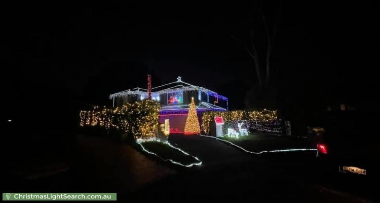 Christmas Light display at 18 Ryan Avenue, Hornsby Heights