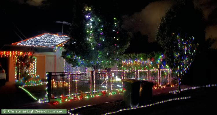 Christmas Light display at 4 Wilkins Street, Glengowrie
