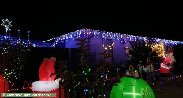 Christmas Light display at 1 Linger Crescent, Elizabeth Downs