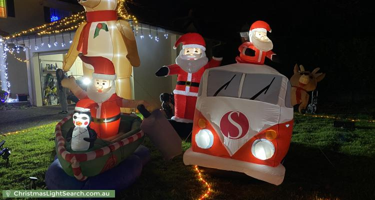Christmas Light display at 22 Adelaide Avenue, East Lindfield