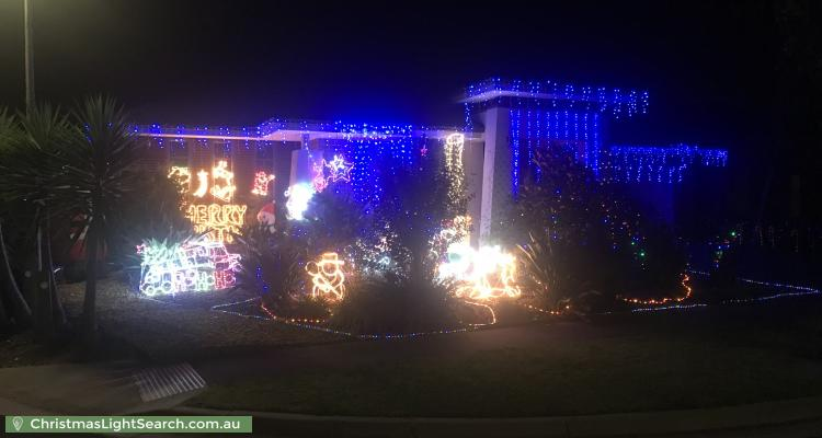 Christmas Light display at 22 Appaloosa Grove, Clyde North