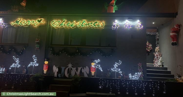 Christmas Light display at 138 Reserve Road, Beaumaris